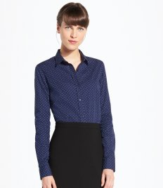 Work Shirts - Ladies Contrast Long Sleeves