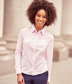 a1e86a670e7 Kustom Kit Premium Long Sleeve Slim Fit Oxford Shirt - ProStitch and ...