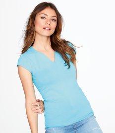 Ladies T-Shirts - Heavy V Neck